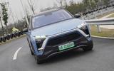 Nio ES8 road test review - cornering front