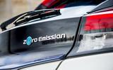 Nissan Leaf 2018 UK review rear badge