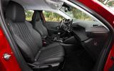 Peugeot 208 2020 road test review - front seats