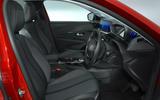 Peugeot e-208 2020 road test review - cabin