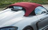 Porsche 718 Spyder 2020 road test review - roof