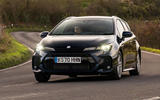 9 suzuki swace 2021 uk first drive review cornering front