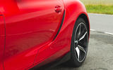 Toyota GR Supra 2019 road test review - rear arch fake aero