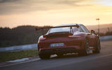 Porsche 911 GT3 RS 2018 review sunset rear