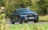 Audi Q8 50 TDI Quattro S Line 2018 road test review - on the road front