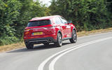 DS 7 Crossback 2018 road test review cornering rear
