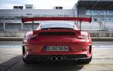 Porsche 911 GT3 RS 2018 review static rear