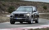 BMW X5 eDrive prototype cornering