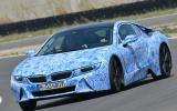 BMW i8 prototype cornering
