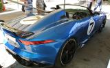 Jaguar F-type R convertible prototype takes to the track
