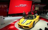 New Ferrari 458 Speciale A revealed at the Paris motor show