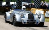 Thunder on the Goodwood hill in the Morgan Plus 8 Speedster