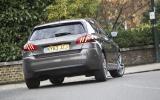 Peugeot 308 rear cornering