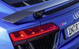 Rear LED lights on the Audi R8