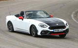 Abarth 124 Spider cornering