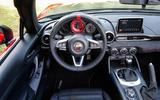 Abarth 124 Spider dashboard