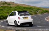 Abarth 595 rear cornering