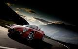 Alfa Romeo 8C cornering