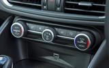 Alfa Romeo Giulia Quadrifoglio climate controls