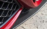Alfa Romeo Giulia Quadrifoglio active front splitter