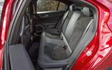 Alfa Romeo Giulia Quadrifoglio rear seats