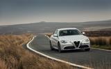 Alfa Romeo Giulia on the road