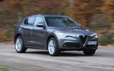 Alfa Romeo Stelvio cornering