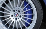 Blue calipers on the Alpina B5
