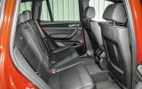 Rear seats in the Alpina XD3