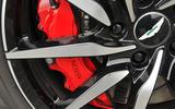 Aston Martin DB11 red brake calipers