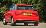 Audi A1 rear cornering