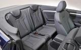 Audi A3 Cabriolet rear seats