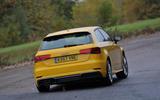 Audi A3 rear cornering