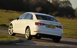 Audi A3 Saloon rear cornering