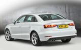 Audi A3 Saloon rear quarter