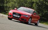 Audi A5 cornering