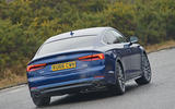 Audi A5 rear cornering