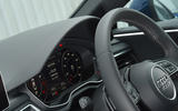 Audi A5 perforated steering wheel