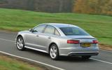 Audi A6 rear cornering