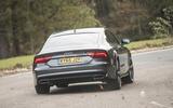 Audi A7 rear cornering