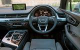 The view from the driver's seat on the Audi Q7