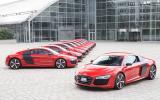 Ten Audi R8 e-tron prototypes