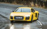 The Audi R8's ride is firm, yet reactive...