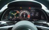 The Audi R8 digital instrument