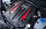 Audi RS7's V8 engine
