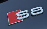 Audi S8 badging