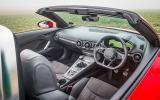 Audi TT Roadster's interior