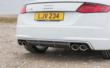Audi TTS quad-exhaust system