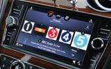Bentley Bentayga Diesel infotainment screen