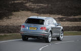 Bentley Bentayga rear cornering